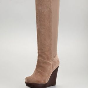 Seychelles Suede Stretch-Panel Tall Boot Size 6